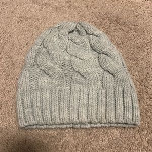 Light gray Cable Knit Beanie Winter Hat Womens